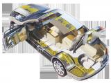 Delle zone di carrozziera di automobile
