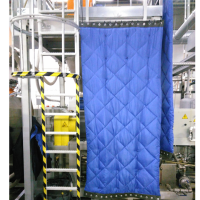 Sound absorber curtains